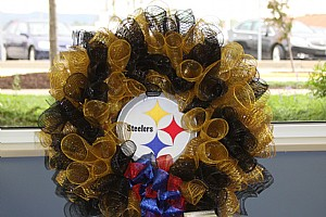 Let's Go Steelers Wreath